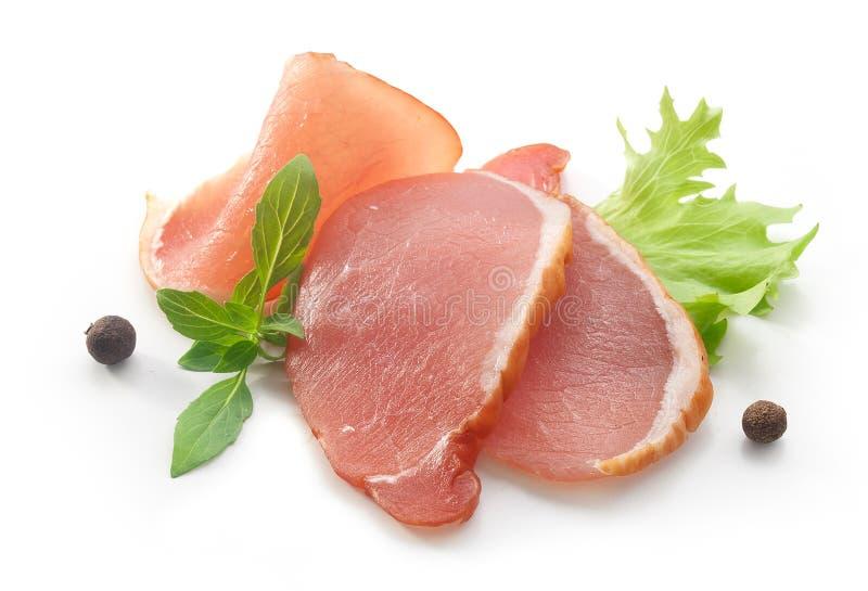Tranches de porc balyk photographie stock libre de droits