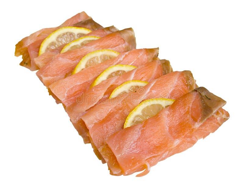 Tranches de saumons fumés photos libres de droits