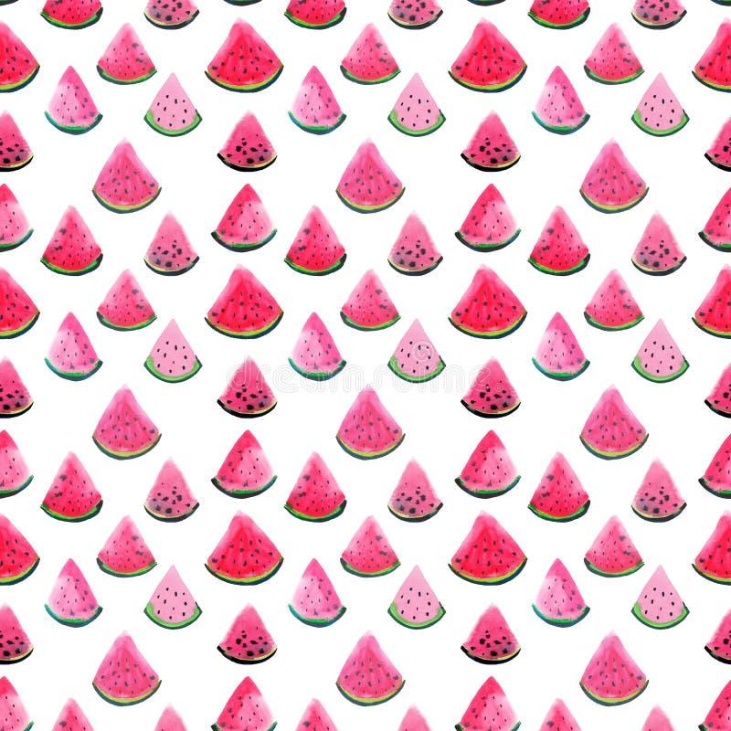 Tranches fraîches de dessert de bel bel été rouge mignon juteux mûr délicieux savoureux délicieux coloré lumineux merveilleux de  illustration stock