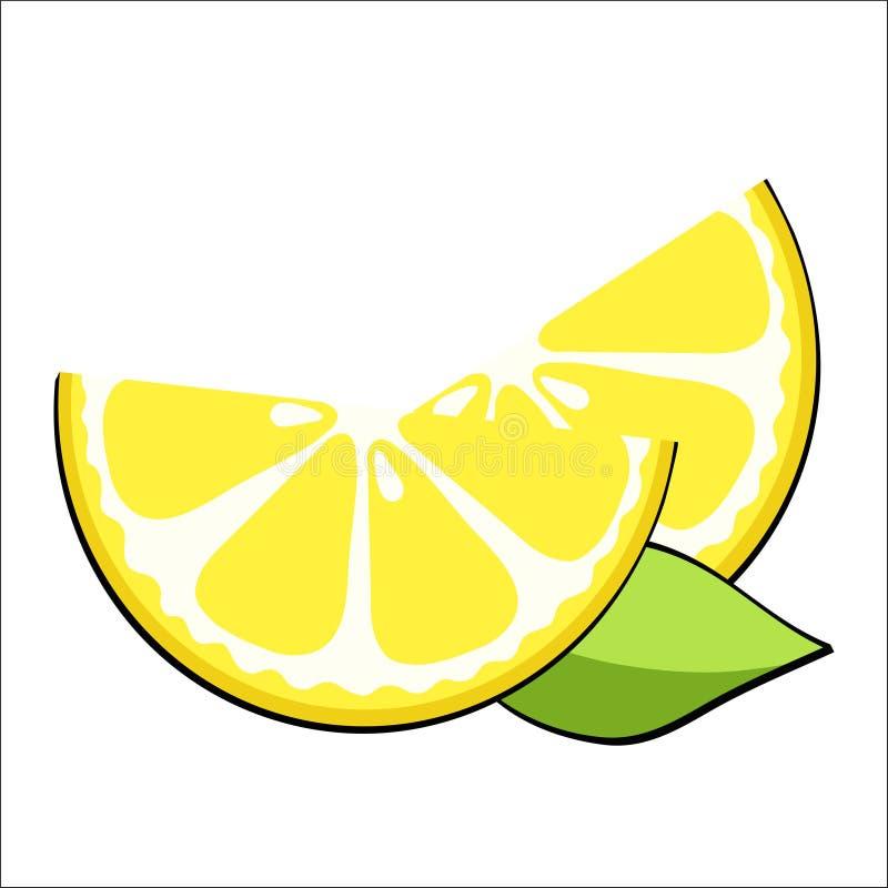 Tranches jaunes de citron dans style comique d'art de bruit le rétro, vecteur courant illustration de vecteur