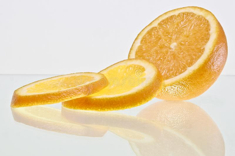 Tranches oranges photo stock