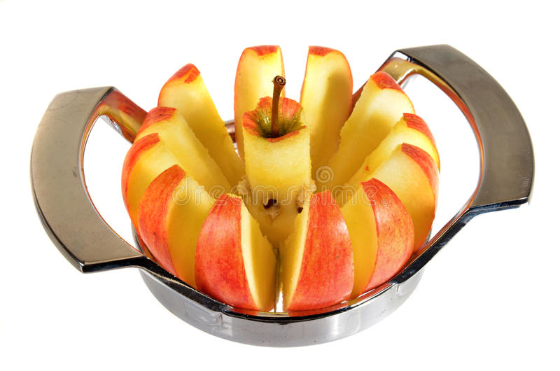 Trancheuse d'Apple image stock