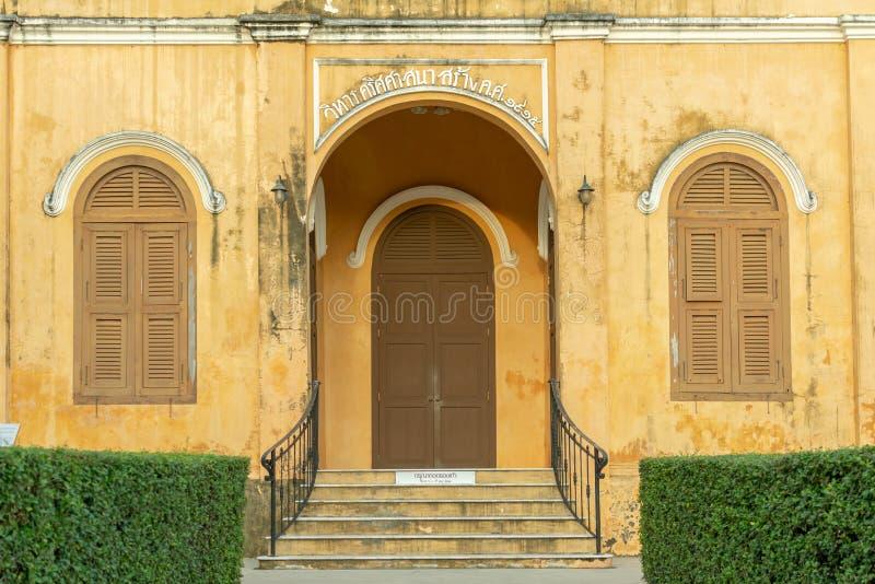 TRANG,泰国- 2018年6月6日:关闭历史的基督教会大厦年龄100岁在Trang区, Trang Thail 库存照片