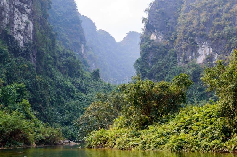 Trang, Tama Coc, Ninh Binh, Wietnam obraz stock