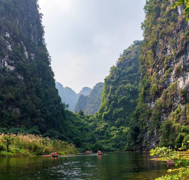 Trang, Tama Coc, Ninh Binh, Wietnam obraz royalty free