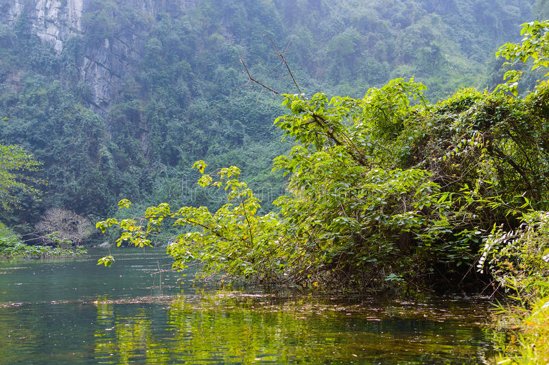 Trang, Tama Coc, Ninh Binh, Wietnam obrazy stock