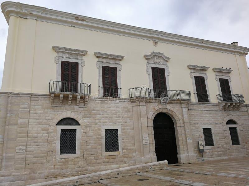 Trani - Palazzo Valenzano immagine stock