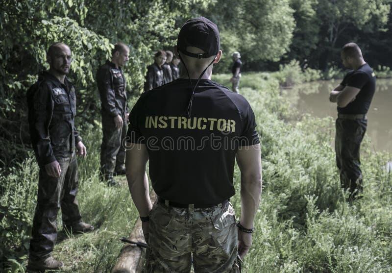 Traning Militärprogramm der Auslese-Herausforderung lizenzfreies stockbild