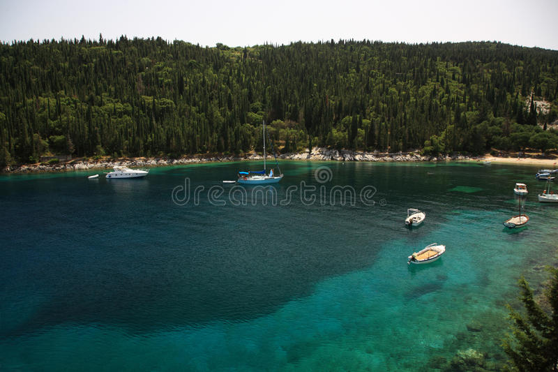 Download Tranquil Cove Kefalonia stock photo. Image of sand, cove - 15070654