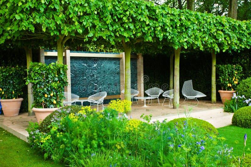 Tranquil garden landscape royalty free stock photos
