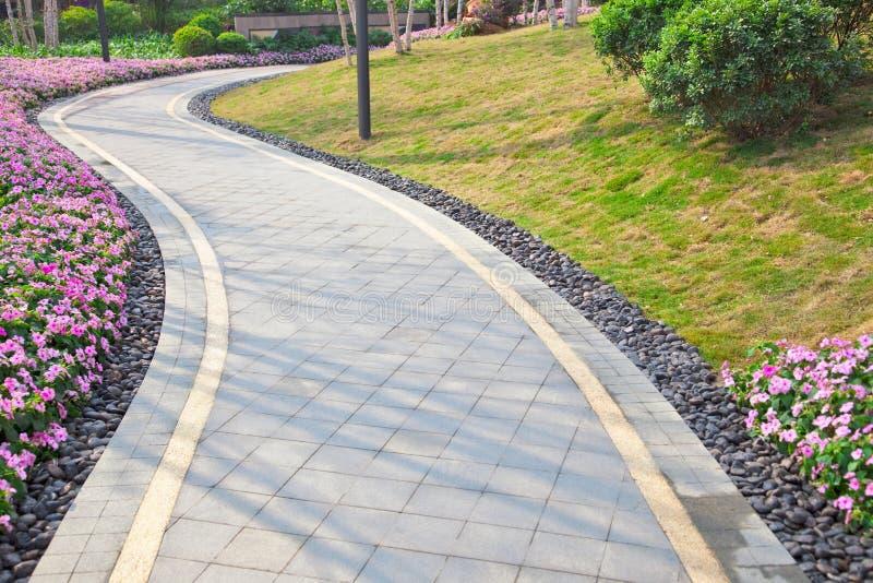 Tranquil Garden Walkway Stock Image