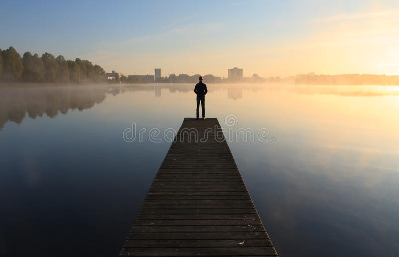 Tranquil jetty stock image