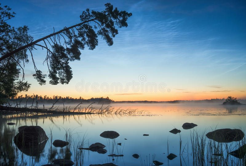 Download Tranquil stock photo. Image of noctilucent, lake, stars - 79795918