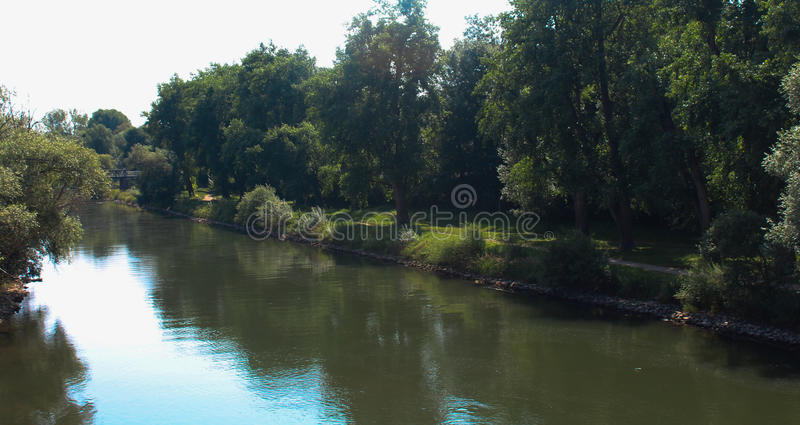 Tranquil River Scene stock images