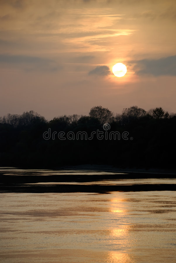 Download Tranquil River In The Twilight Stock Photos - Image: 7145453