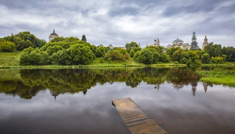 Tranquil russisch landschap stock foto