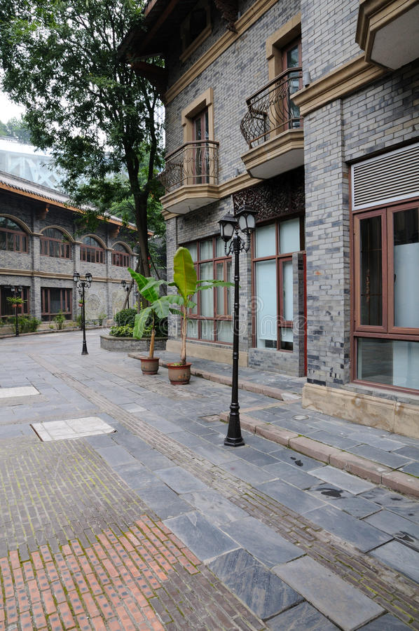 Download Tranquil street stock image. Image of terrace, stylish - 25446353