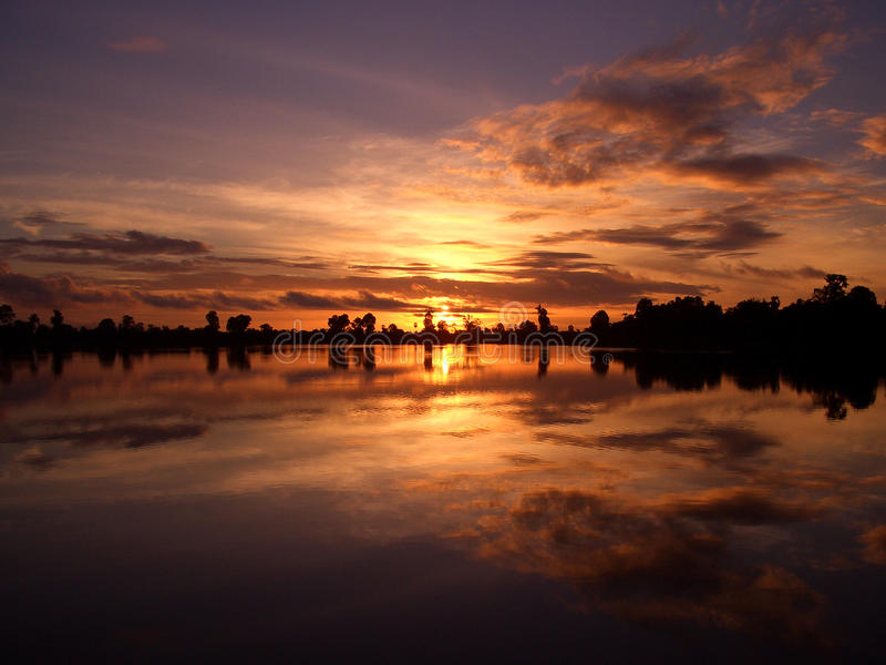Download Tranquil sunset stock photo. Image of nature, background - 9446230
