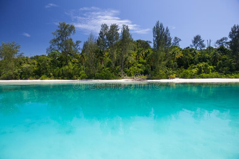 Tranquil Tropical Scenery in Raja Ampat, Indonesia royalty free stock photos