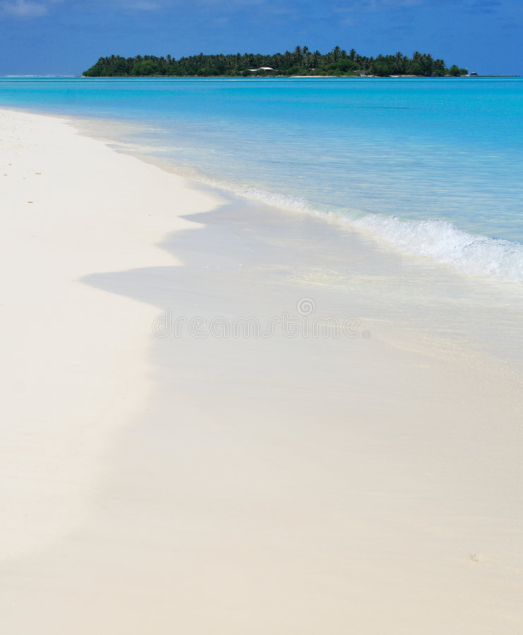 Tranquil view of a tropical island stock photography