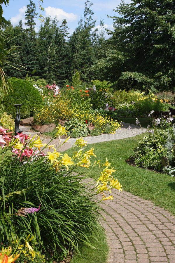 Download Tranquil Walkway stock photo. Image of gardening, lily - 11067426