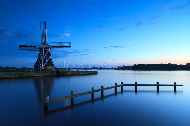 Tranquil windmill royalty free stock photography
