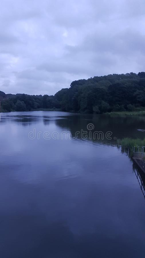 Tranquil. Wishing Tree resevoir , stress free walk with my dog royalty free stock photo