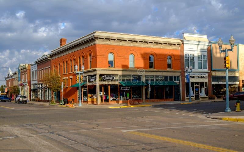 Tranquilidad el domingo por la mañana en Laramie fotografía de archivo