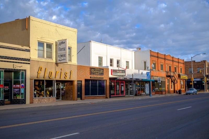 Tranquilidad el domingo por la mañana en Laramie imagen de archivo libre de regalías