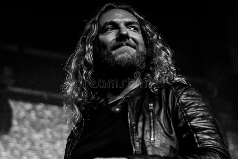 Tranquilité foncée, concert vivant 2017 de Mikael Stanne image stock