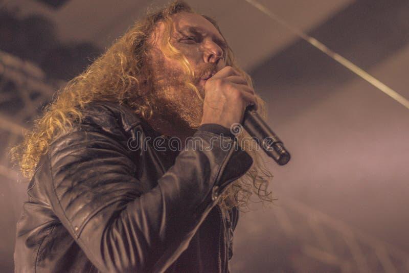 Tranquilité foncée, concert vivant 2017 de Mikael Stanne photo stock