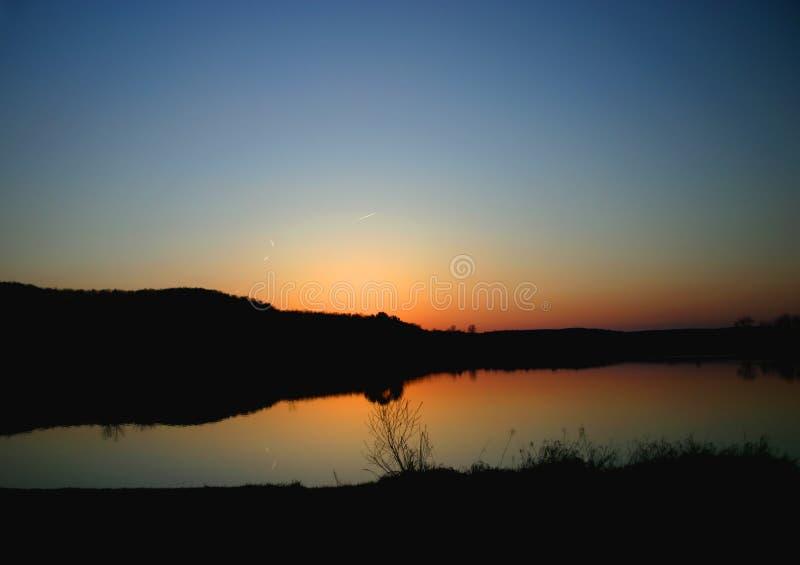 Download Tranquility stock image. Image of serene, dusk, orange - 118165