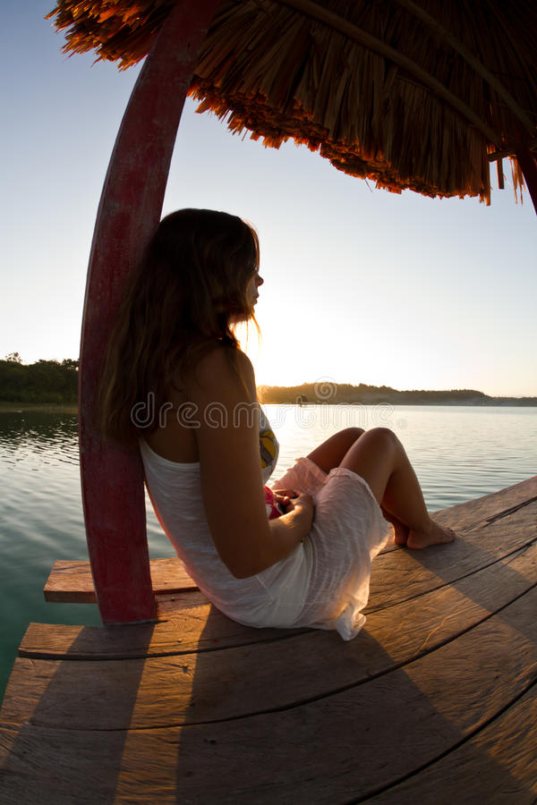 Tranquility over Guatemala stock images