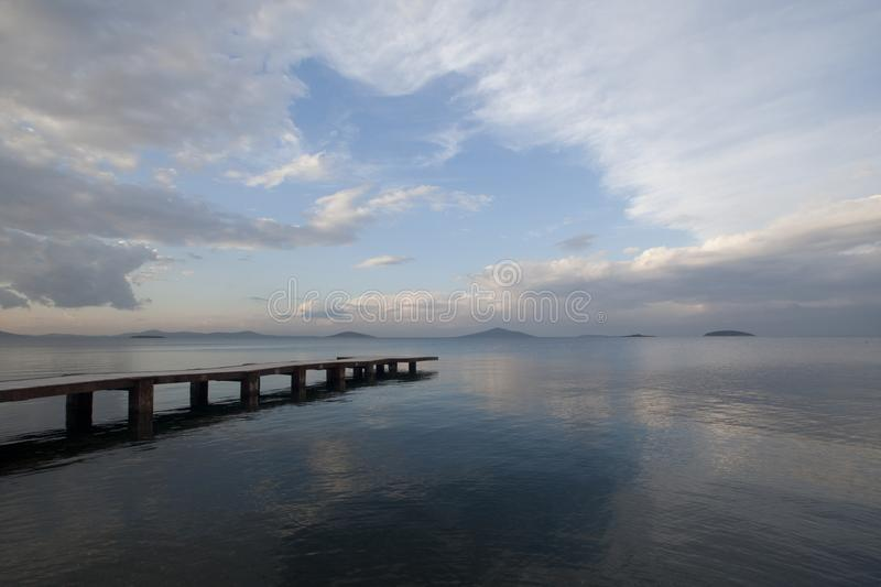 Tranquility and the peer royalty free stock photos