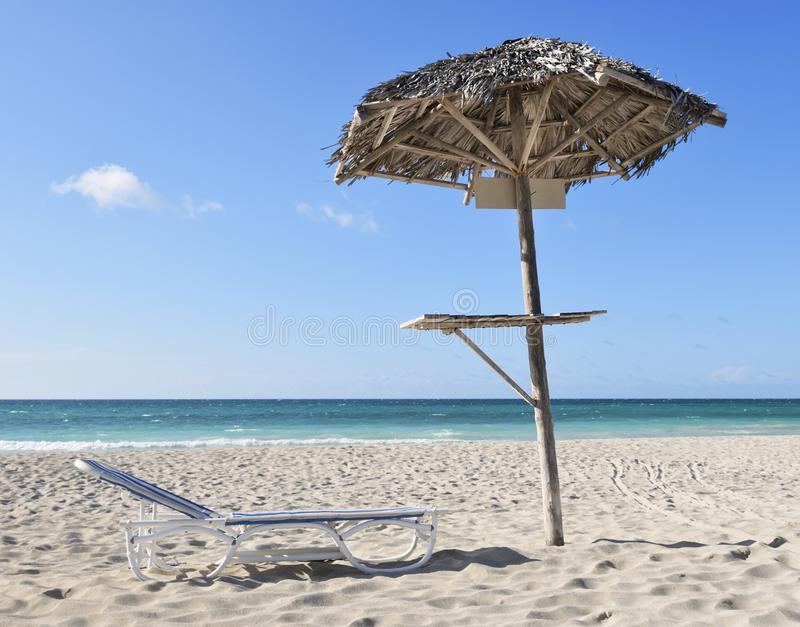 The tranquility of the place in Varadero Cuba stock photography