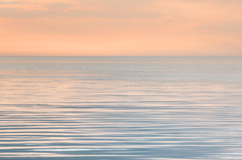 Tranquility on the sea. In evening royalty free stock image