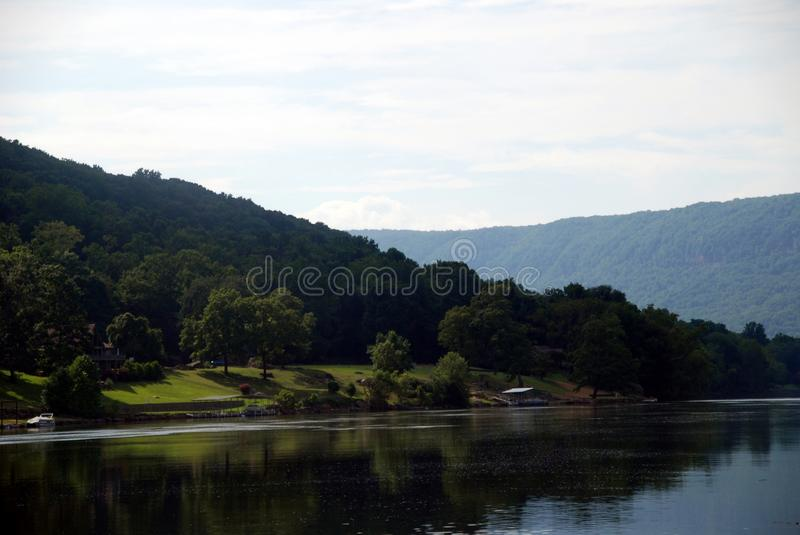 Tranquility on the Tennessee River stock image