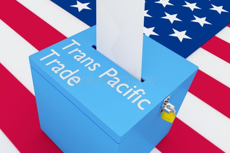 Trans太平洋贸易概念 向量例证