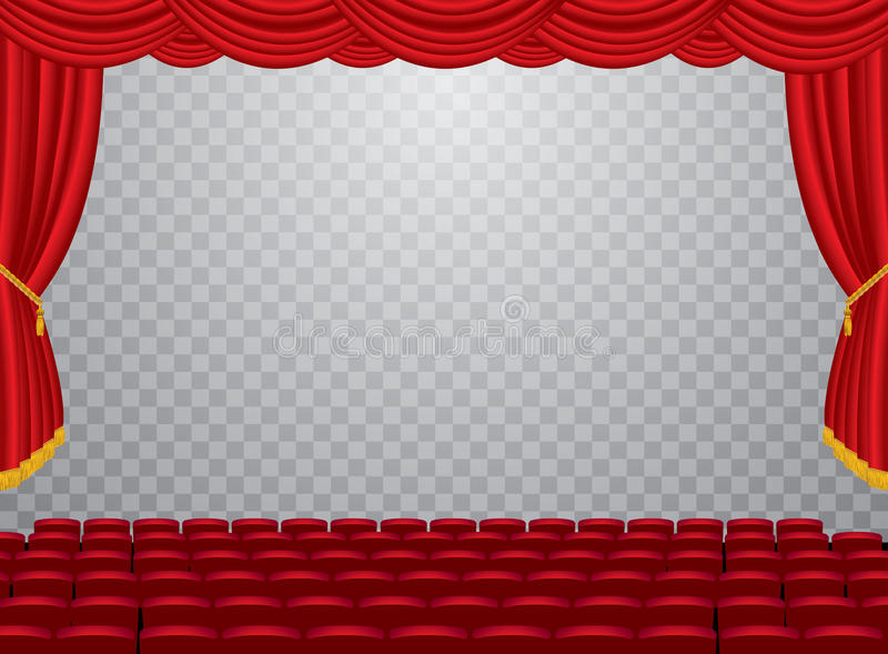 Trans观众席戏院 皇族释放例证