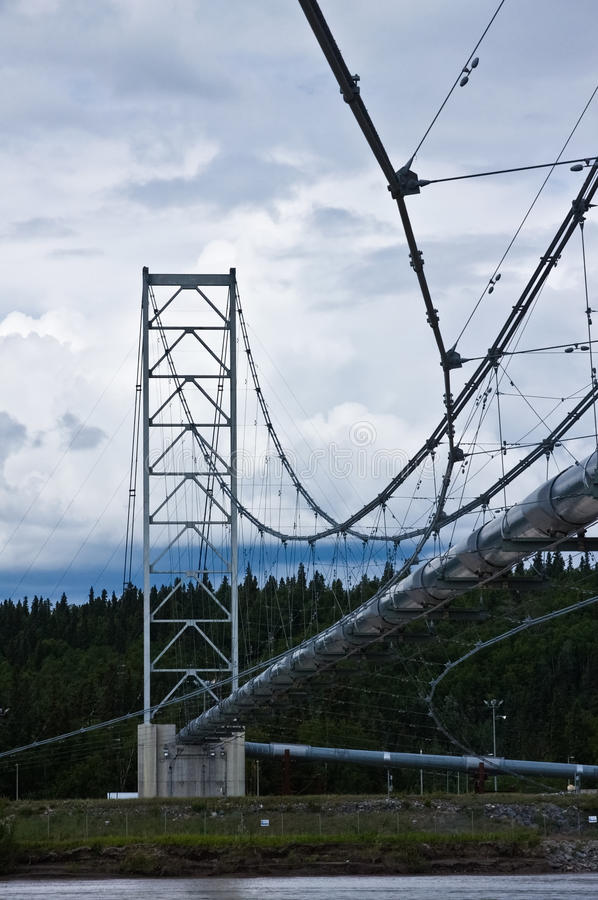 Trans-Alaska Pipeline royalty free stock photo