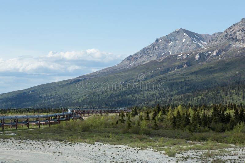 The Trans-Alaska Pipeline stock photo