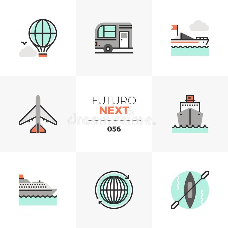 Trans.Futuro nästa symboler vektor illustrationer