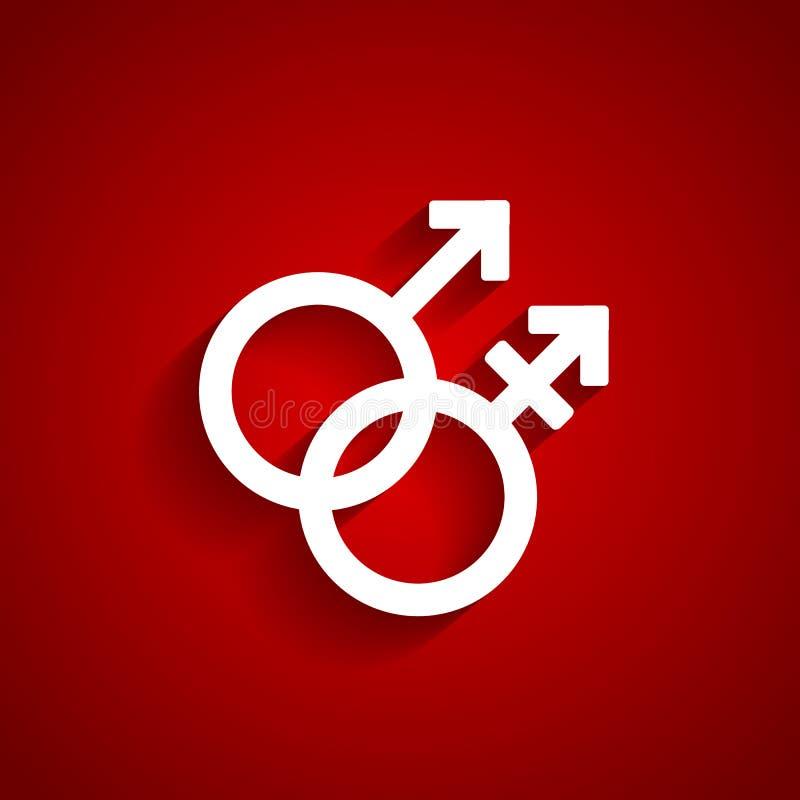 Trans geslachts wit symbool vector illustratie