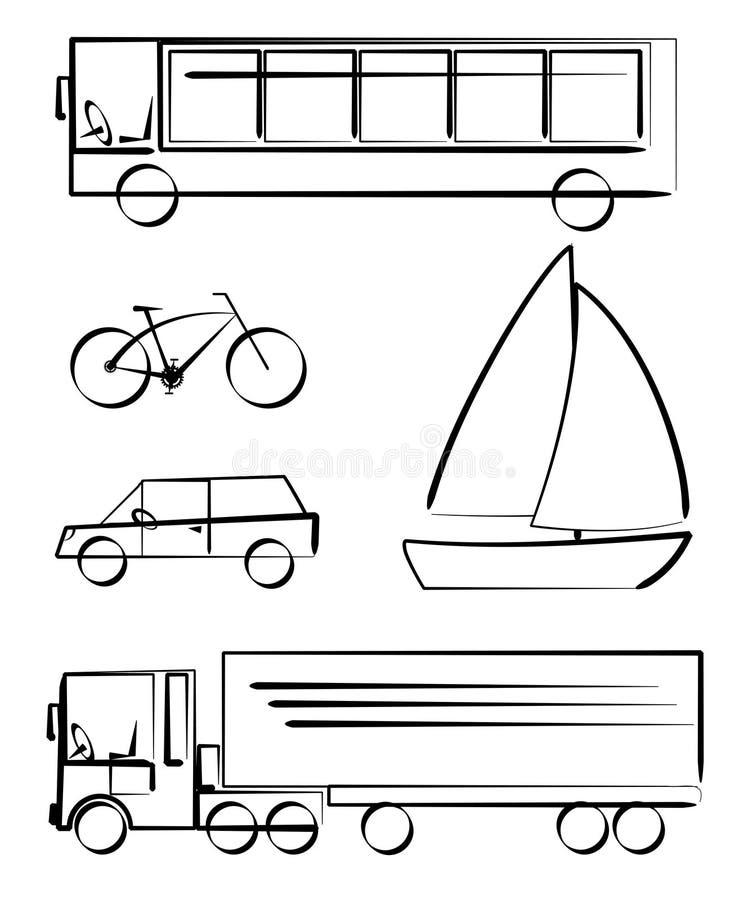 trans.medel stock illustrationer
