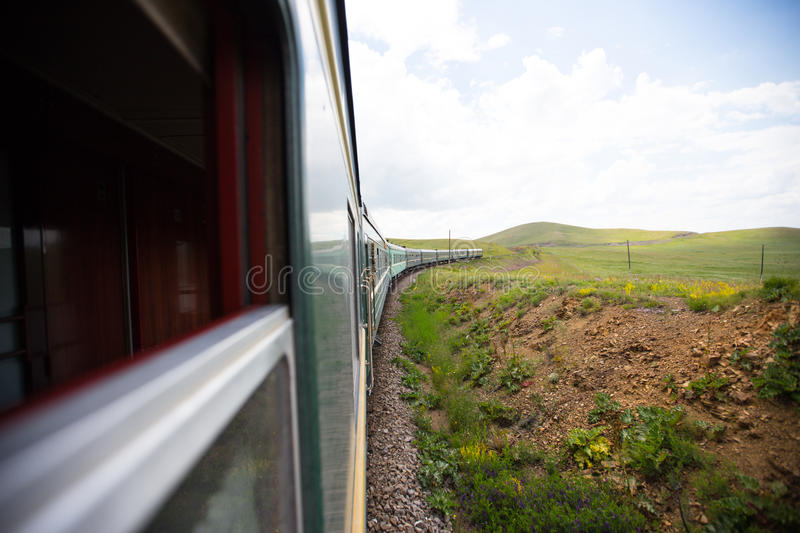 Trans Mongolian Train exotic travel, Mongolia. Trans Mongolian train, exotic trip, Mongolia stock image