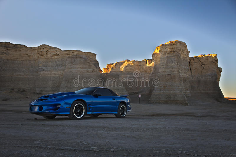 Trans am at monument rock stock photos