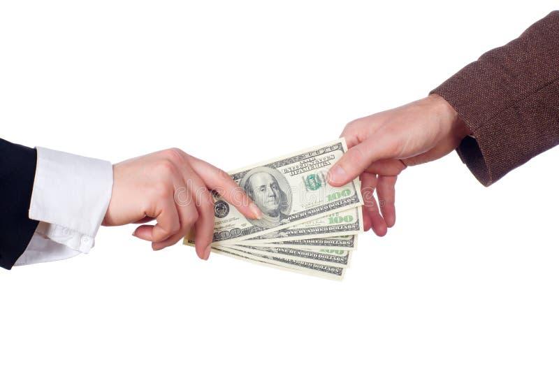 Transação de negócio. Isolado imagem de stock royalty free