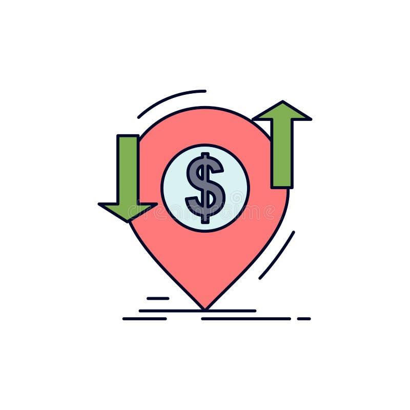 transação, financeira, dinheiro, finança, vetor liso do ícone da cor de transferência ilustração royalty free