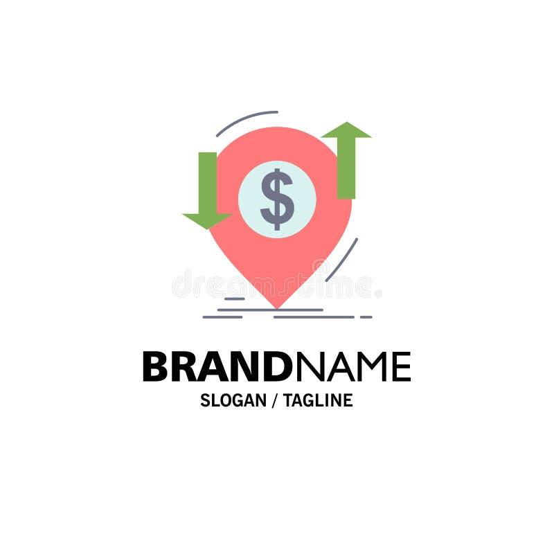 transação, financeira, dinheiro, finança, vetor liso do ícone da cor de transferência ilustração stock
