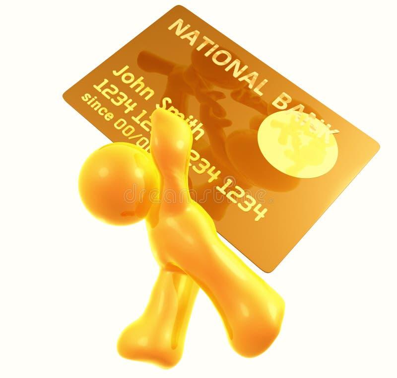 Transações pesadas do cartão de crédito ilustração do vetor